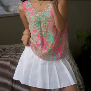 Lilly Pulitzer Floral Silk Tank Top Blouse